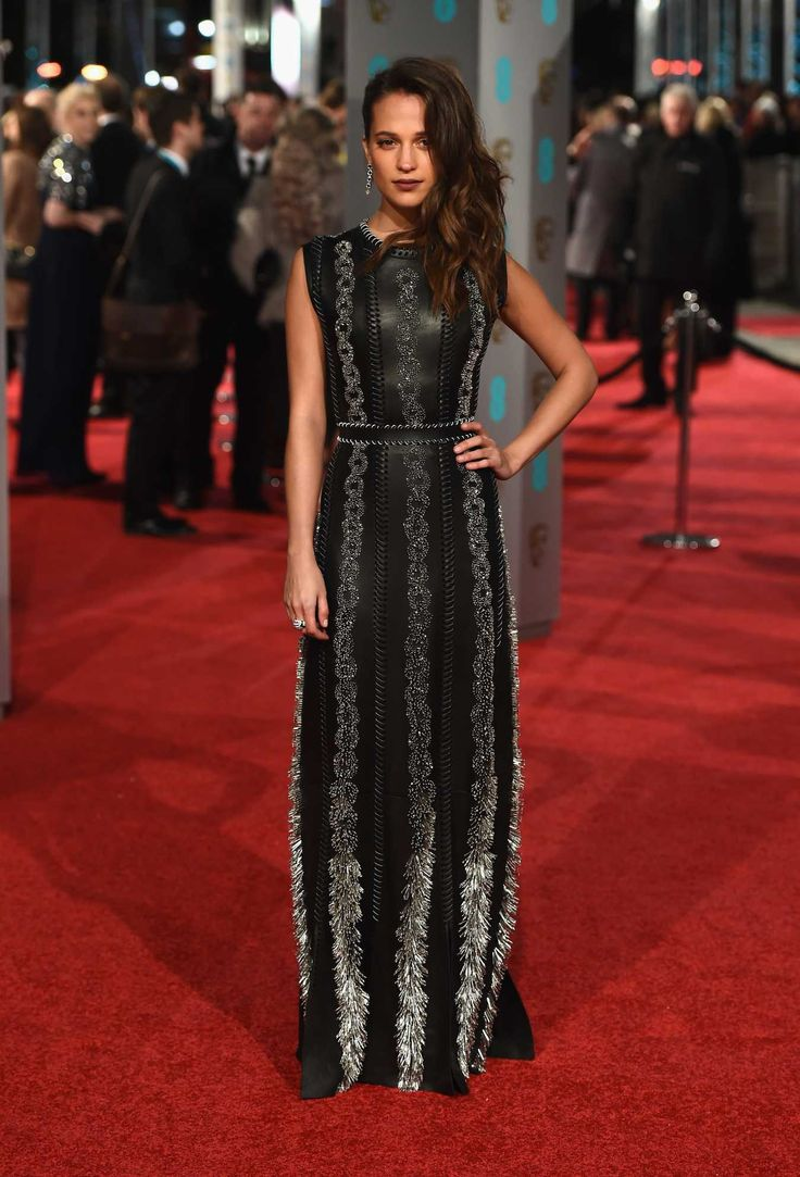 Alicia Vikander in Louis Vuitton. Photo: Ian Gavan/Getty Images.