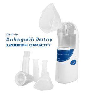 WMicroUK Nébuliseur ultrasonique Portable avec batterie Rechargeable, peut être utilisé Par les enfants et adultes de tous âges