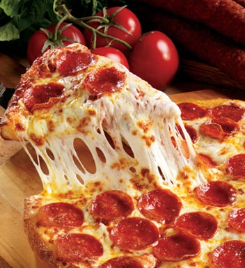 Mmmm... the cheesy, gooey goodness of a Marcos Pepperoni Pizza! AND you can order online!