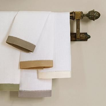 Sferra Filo Linen Guest Towels, Set Of Two From Frontgate