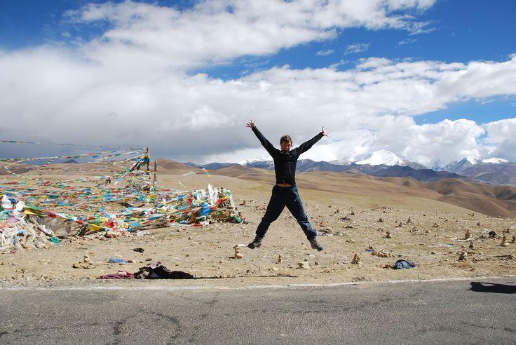 Horské sedlo při sestupu Tibet - Nepál