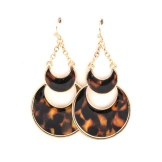 Tortoise Half Moons Earrings at www.capricci.nl
