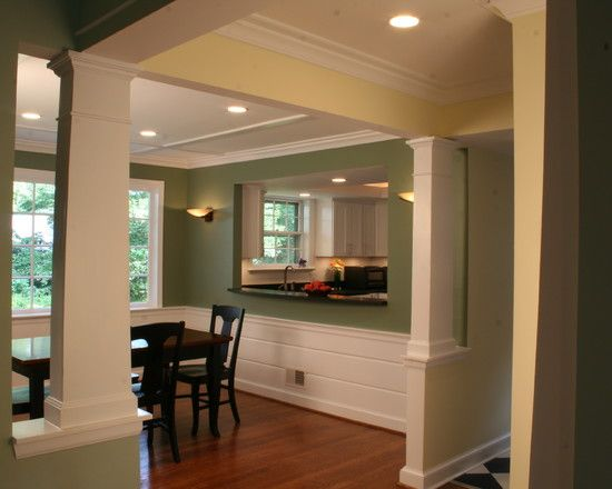 Kitchen Pass Through And Columns ColumnsKitchen IdeasDining Room