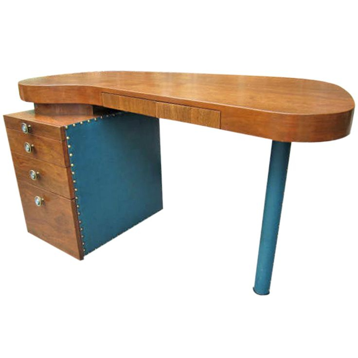 Herman miller gilbert rohde single pedastal desk mid century
