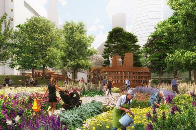West 8 Wins Bernie Spain Gardens Design Competition Landscapear