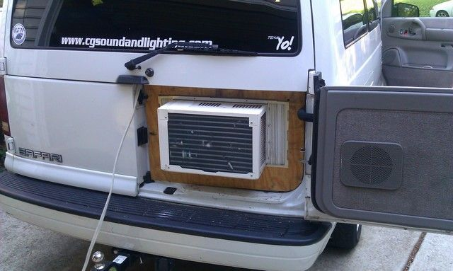 Astro Safari Van With Hidden Window A C Unit Minivan Camper Conversion Astro Van Camper Conversion