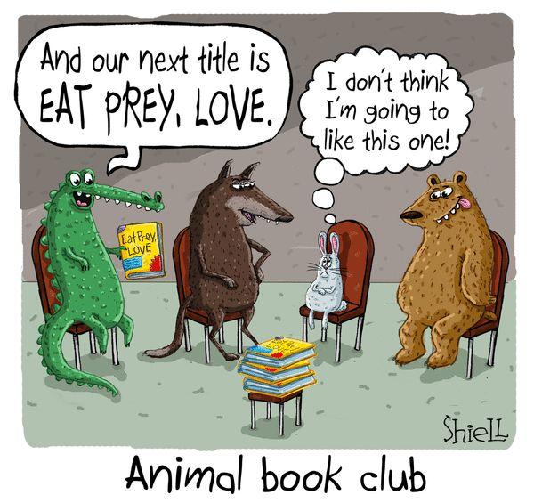 funny humor library cartoons titles cartoon books memes reading club june melon comics wandering gocomics mike shiell clubs hilarious fun