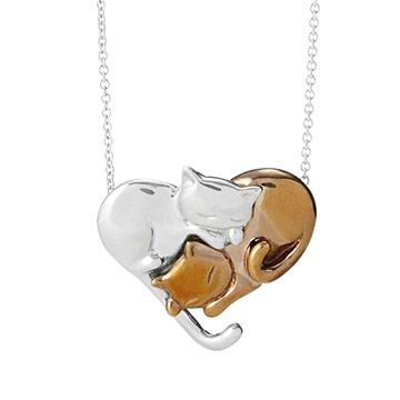 Look what I found at UncommonGoods: Intertwined Felines Necklace for $148.00