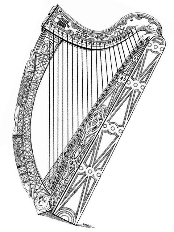 Brian boru harp. Tattoo idea for Irish heritage instead of the ...