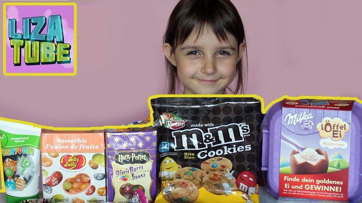 Открываем посылку с иностранными сладостями M&M's Milka Jelly Belly  Ber...