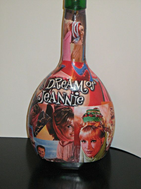 I Dream Of Jeannie Decoupage on Jeannie by CelebrityBottleCo, $44.00