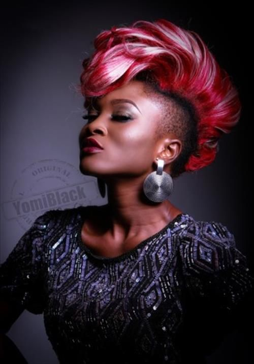 Mohawk Hairstyles For Women this cherry cola color is a standout all on its own and adds extra flair to this mohawk Mohawk Hairstyles For Black Women Bing Images