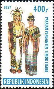 Indonesia Stamp 1987 - Indonesian Costumes Pengantin Timo Timur
