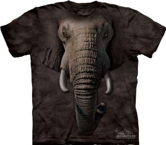 The Mountain Elephant Face T-shirt: I think if I saw this coming I would run away. $16.80 #Elephant_T_Shirt #Mountain