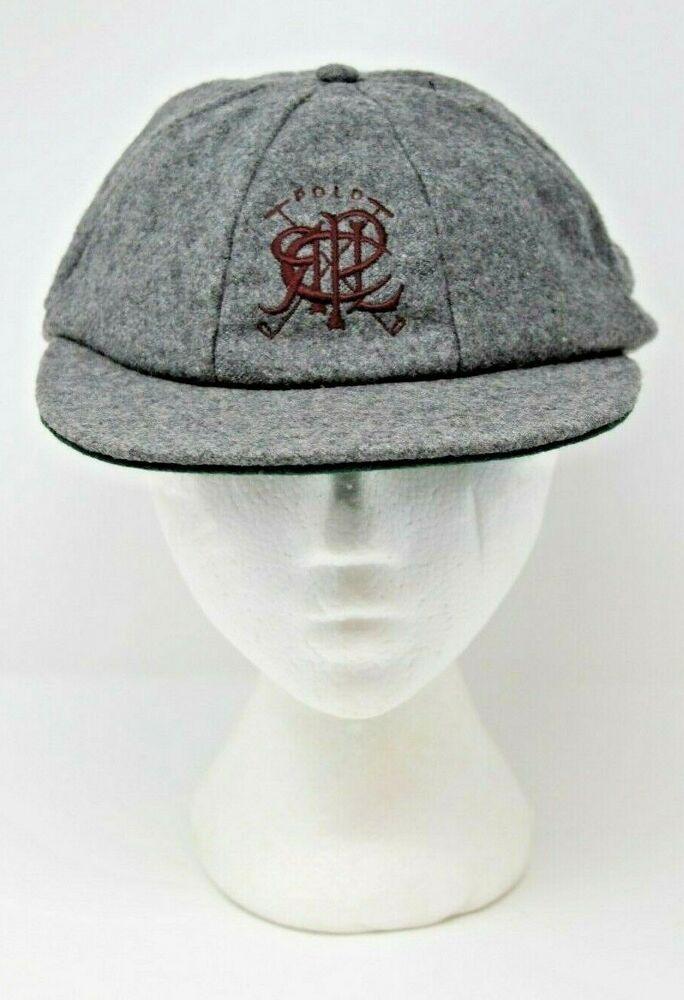 5f4e58710 Polo Ralph Lauren Size 7 5 8 Cabbie Newsboy Rider Cap Hat 100% Wool Vintage   PoloRalphLauren  Cap