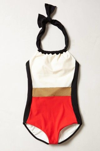Touche Colorblocked Maillot from anthropologie
