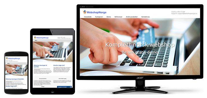 Ny webside for Webshop Norge