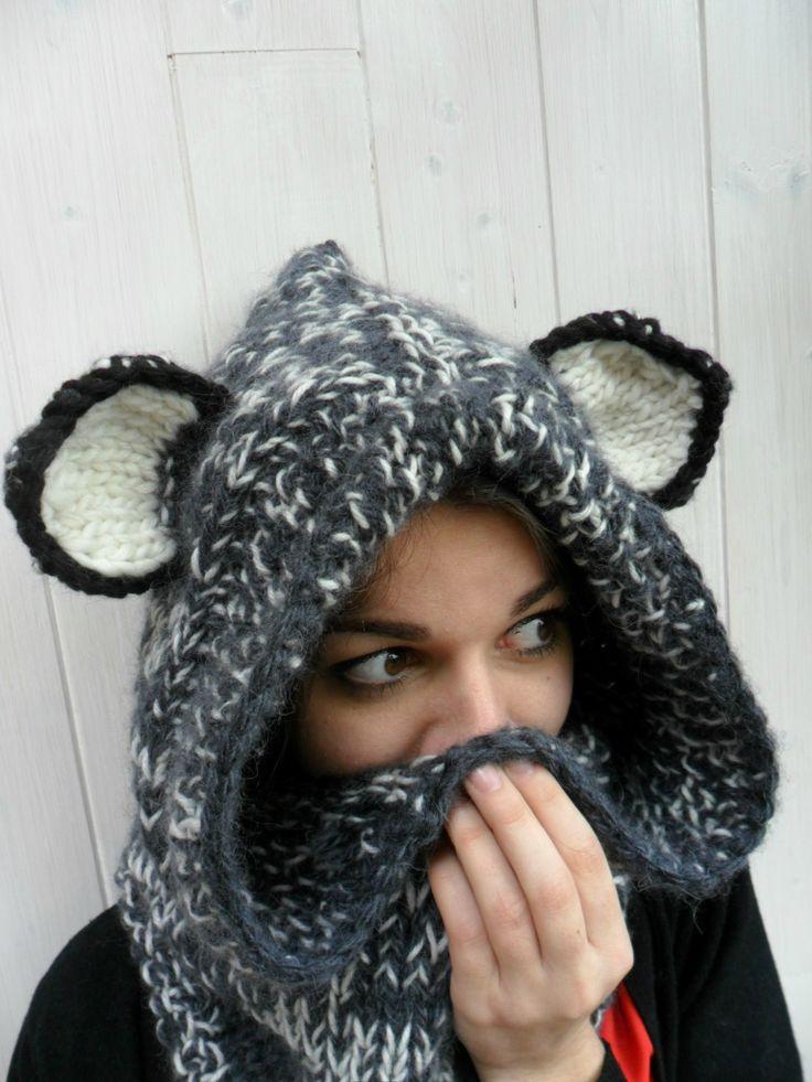 modèle tricot echarpe avec capuche