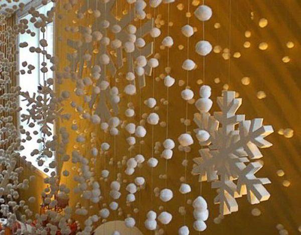 Новогоднее украшение окна своими руками