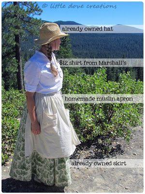 Little Dove Creations: pioneer trek: pioneer clothing