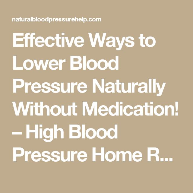 How To Get Off High Blood Pressure Medication Naturally