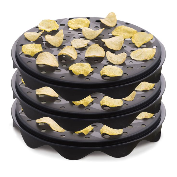 The Healthiest Potato Chip Maker - Hammacher Schlemmer - This is the microwave cooker that creates crisp and delicious potato chips without the fat and calories that come from deep frying.