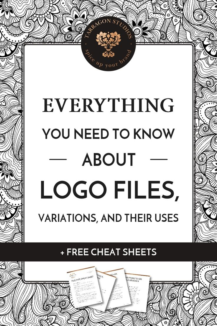 Everything you need to know about logo files, variations, & their uses + free cheat sheet
