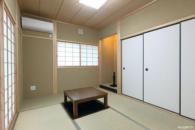 リビングに面した和室。掘りごたつを設けました。#和風住宅 #住宅 #家づくり #新築 #和室 #掘りごたつ #設計事務所 #菅野企画設計