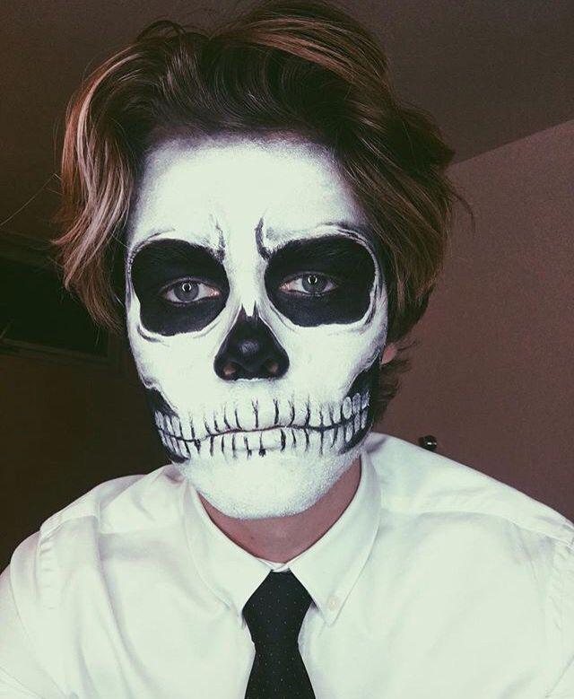 Halloween skeleton makeup                                                       …