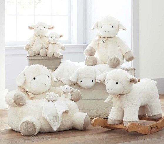 Lamb Plush Rocker | Pottery Barn Kids