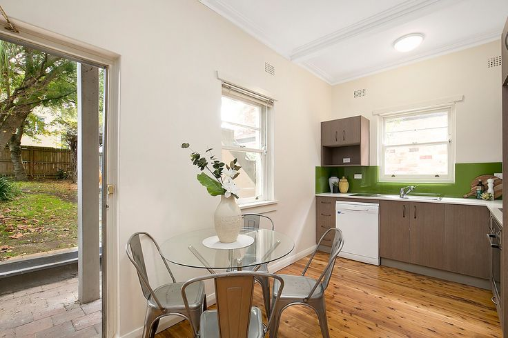 New kitchen with polished floorboards - 2/31 Bartlett Street Summer Hill at Pilcher Residential