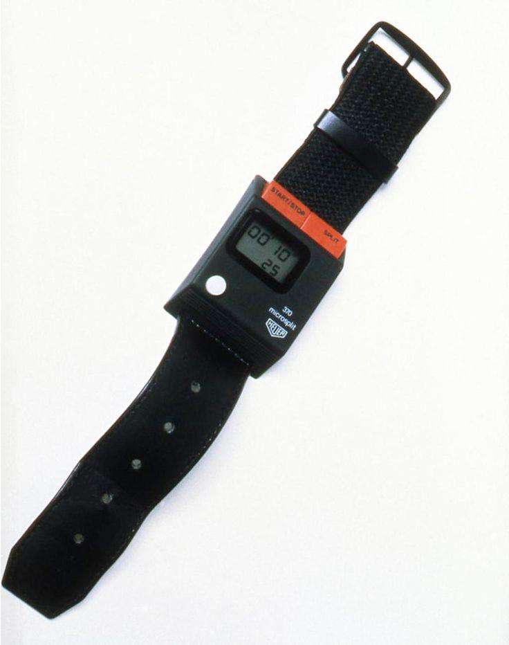 Microsplit 370 1977 Wrist stopwatch Heuer  Richard Sapper