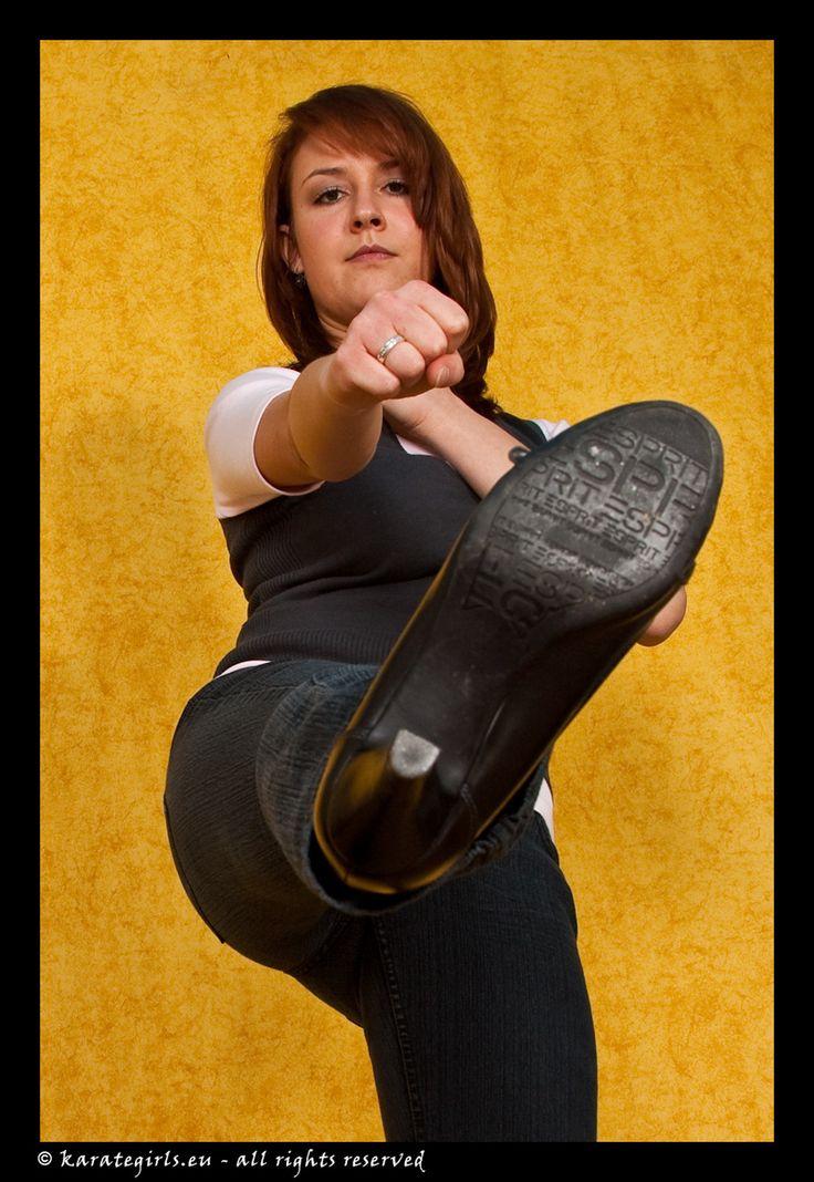 Casual High Heels Kicks Martial Arts Posing POV Wing