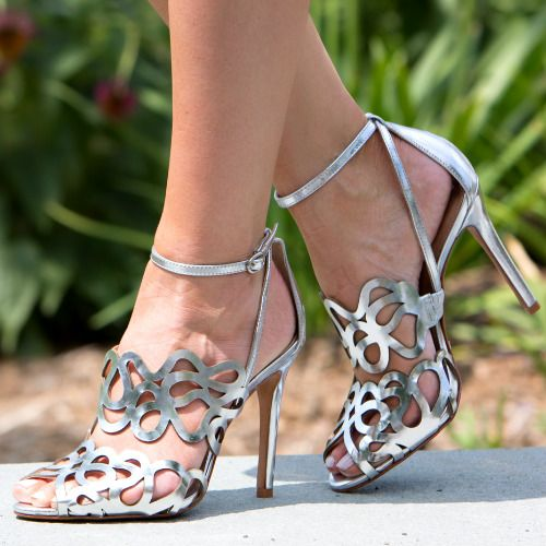 Schutz Silver Dress Sandals