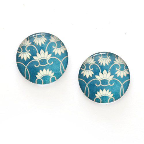 Idin Clip-on Earrings - Blue floral printed glass round c... https://www.amazon.co.uk/dp/B00ZFP6W9S/ref=cm_sw_r_pi_dp_U_x_7shMAbZP8Z84B