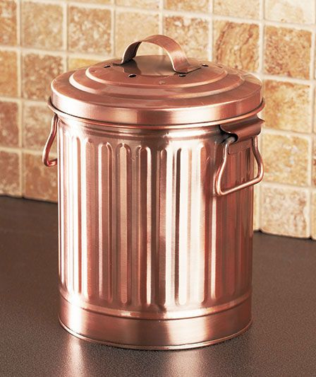 handy handsome and durable metal compost pail holds up to a gallon of food scraps to save you trips to the compost pile outside