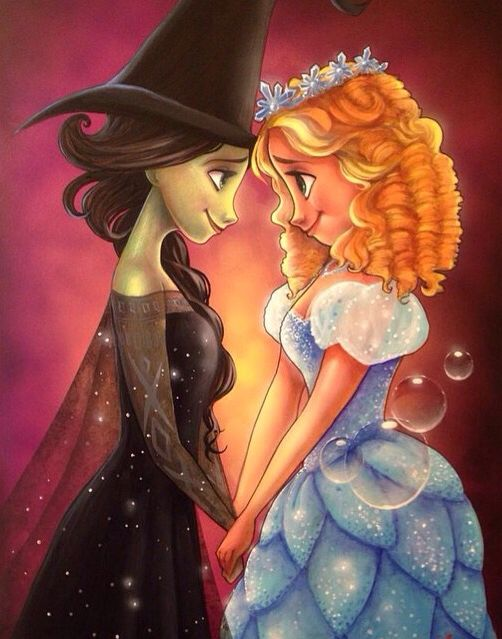 I have been wondering why people keep comparing wicked and frozen! #elsaba. #glinda