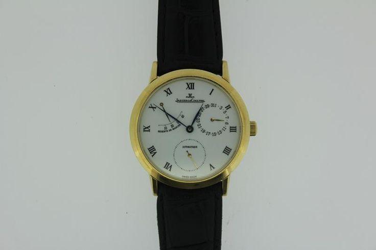 Beautiful 18 carat golden Jaeger le Coultre Gentilhomme watch. http://www.goldbergjuweliers.nl/shop/products-page/horloges-goud/jaeger-le-coultre-gentilhomme