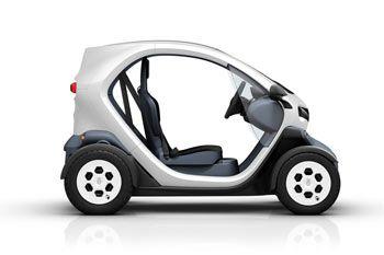 Twizy 45      Precio: 4.917 €   Conducible a partir de los 15 años.   Velocidad máxima: 45 km/h    Autonomía: 100 Kms    Tiempo de carga: 3 horas y media      Otros: Alquiler de batería 50 €/mes