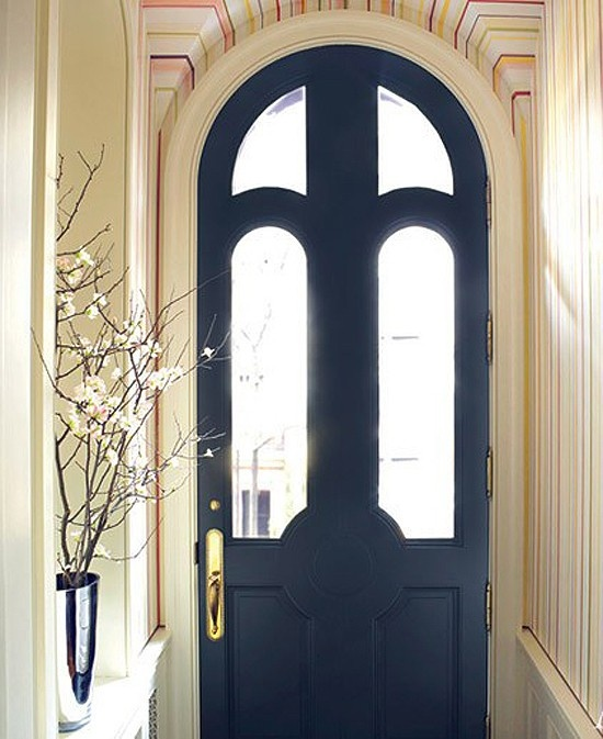 gorgeous entryway: Interiors Doors, Entry Doors, Black Doors, Blue Doors, Doors Color, Front Doors, Entrance Hall, Arches Doors, Architecture Digest