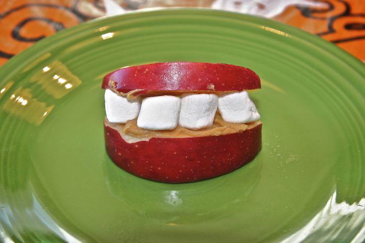 marshmallow apple teeth snacks