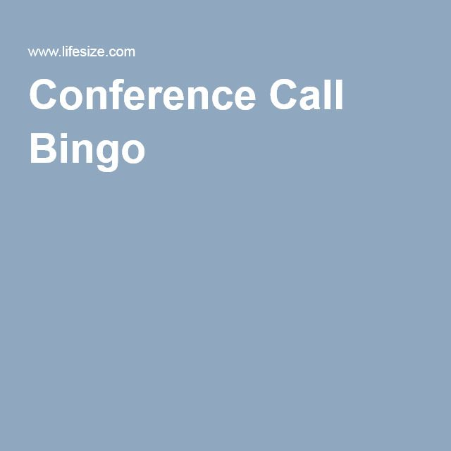 how to play conference call bingo