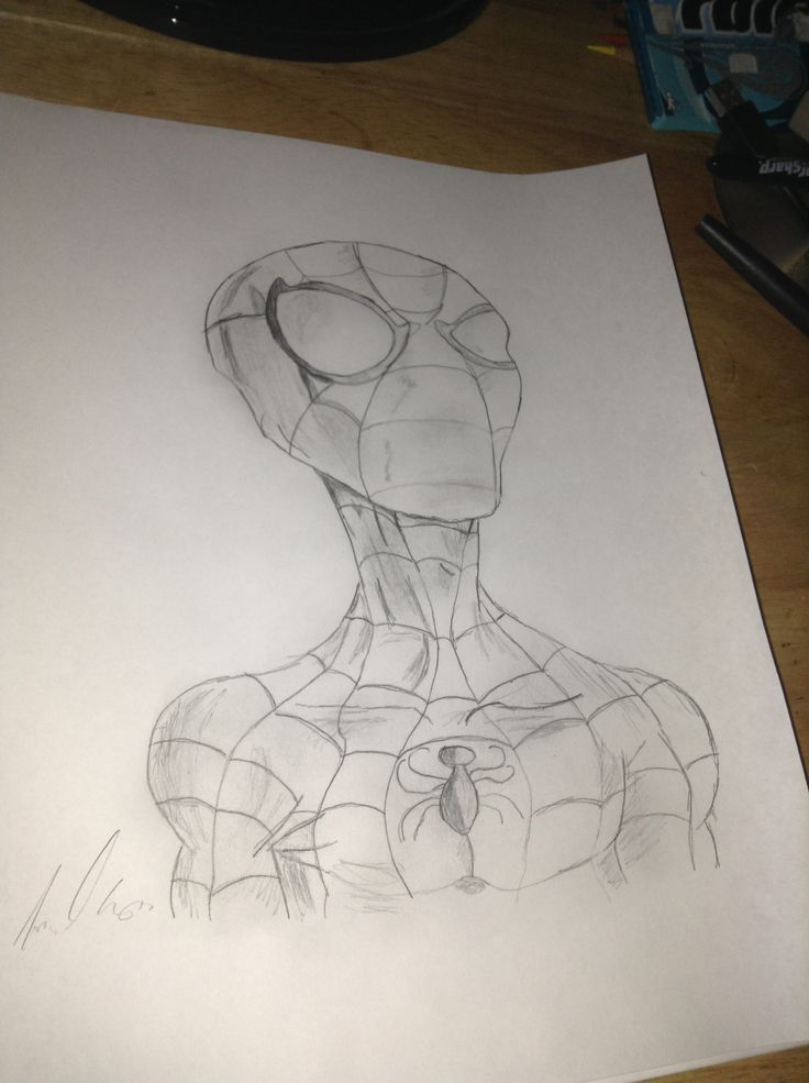 my sketch of spider man