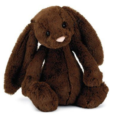 "Jellycat Plush Bashful Medium Chocolate Bunny 12"" by Jellycat, http://www.amazon.com/dp/B00314WFYQ/ref=cm_sw_r_pi_dp_nV-vqb0NN2A5V: Jellycat Bash, Bunnies Medium, Bash Bunnies, Easter Bunnies, Easter Gifts, Bash Chocolates, Easter Baskets, Stuffed Animal, Chocolates Bunnies"