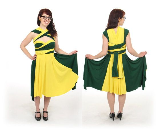 Rogue from XMen inspired Convertible Dress by LittlePetalNYC, $200.00