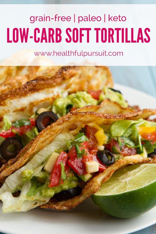 No Grains! Soft Tortilla Tacos (corn-free, paleo, dairy-free, keto + low-carb) | Healthful Pursuit