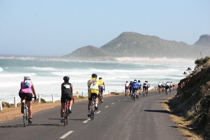 Cycling along the beautiful coast