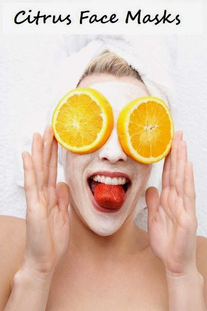 DIY beauty face masks made from ORANGES, that are high in vitamin C, antioxidants and more. #DIY, #facial, #beauty