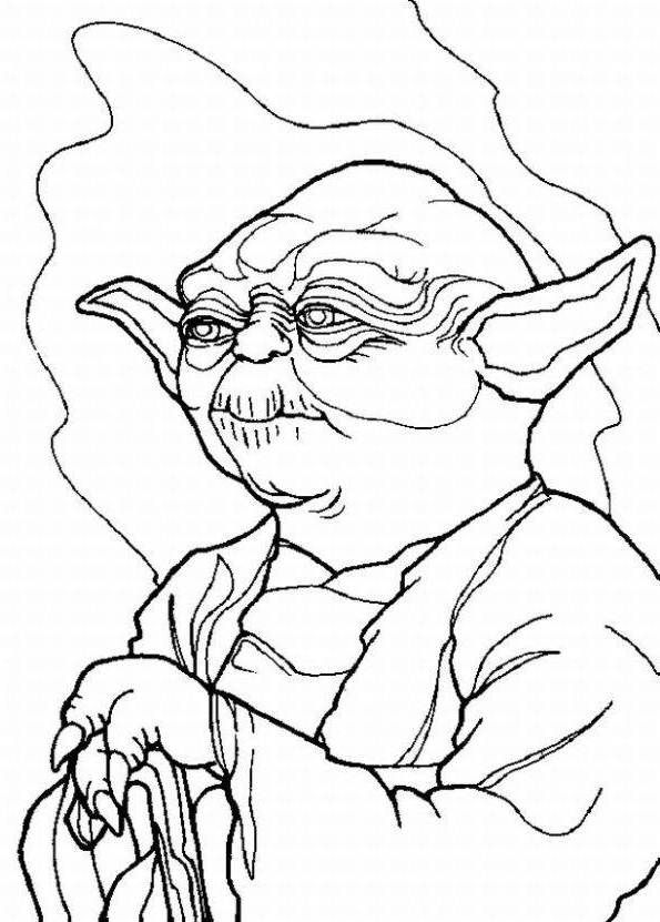 pictures character yoda star wars coloring pages star wars coloring pages kidsdrawing free coloring pages online - Yoda Coloring Pages