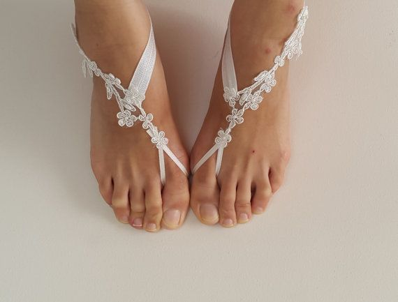 Hey, I found this really awesome Etsy listing at https://www.etsy.com/listing/466128755/beaded-ivory-lace-wedding-sandals-free